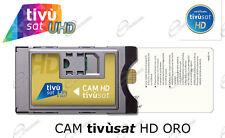 Scheda ORO e CAM Tivùsat per Rai Mediaset Tivusat CI+ per smart TV e Decoder