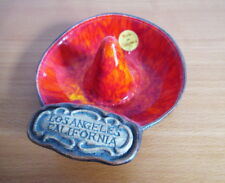Treasure Craft Ring Trinket Bowl Sombrero Hat Label Los Angeles California USA