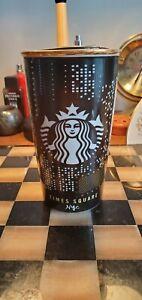 Starbucks New York City TIMES SQUARE Ceramic Tumbler 12 Fl Oz - 2015 Mint