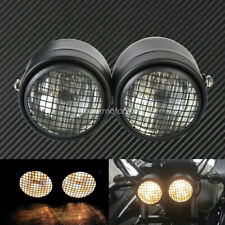 Grill Twin Headlight Motorcycle Motorbike Dual Lamp Street Fighter Naked 12V