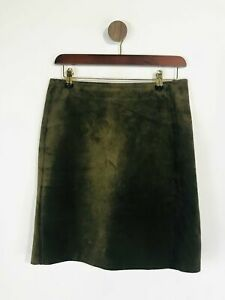 OUISET Women's Leather Vintage Pencil Skirt   UK12   Green