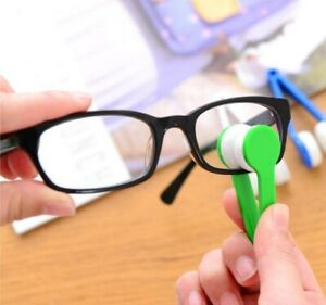 Mini Microfiber Two-side Sunglasses Brush Spectacles Cleaner Glasses Clean