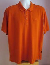 VTG Mens ADIDAS Orange Collared Shortsleeve Polo Shirt Size Large (A15)
