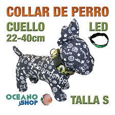 COLLAR PERRO CAMUFLAJE LED VERDE AJUSTABLE TALLA S CUELLO 22-40cm L37SV 3119