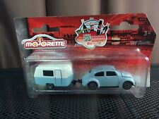 Majorette Vintage cars Limited Edition Beetle1 with Trailer Blue Model Diecast