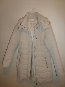 Women's WITCHERY Longline Jacket Puffer with Detachable Hood Size 12