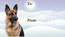 German Shepherd Dog Christmas Labels by Starprint - No2
