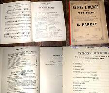 rythme et mesure exercices pour piano en 4 parties 1888 H. Parent