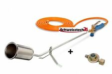 CFH Abflammgerät, Abflammbrenner GV 900 mit 2,5 bar Druckregler und 5m Schlauch