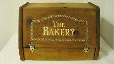 Vintage Wooden Pine Bread/Bakery Storage Box