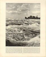1894 Viktorianisch Aufdruck Rapids Above The American Fall Niagara &