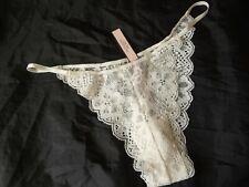 L, Victoria's Secret Dream Angel String Brazilian panty, ivory, polyamide, NEW