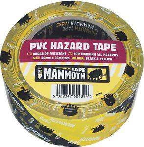 Evrbuild Mammoth PVC Hazard Marking Tape Black Yellow Social Distancing