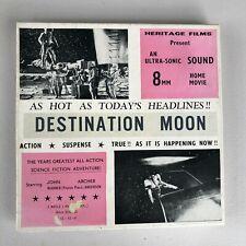 DESTINATION MOON VINTAGE CINE FILM 8 mm Vintage Black and White, Sound Movie