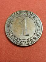 Prägefrischer 1 Reichspfennig 1936 A Unc Stempelglanz Weimarer Republik Pfennig
