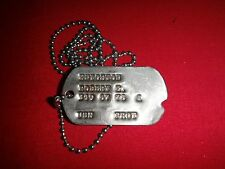 Military ID Dog Tag + Ball Chain Of A US Navy Soldier Named KNIGHTON, ROBERT E.