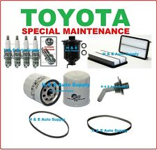 96-97 RAV4 TUNE UP KITS: SPARK PLUG, BELTS, PCV VALVE; AIR, FUEL, & OIL FILTER