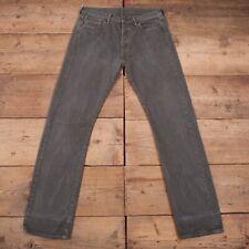 Vintage Levis Levi 501 Green Khaki Straight Leg Denim Jeans 33 x 34 R19534