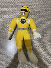 19? Vintage 1993 Mighty Morphin Power Rangers Action Pal Plush Doll Yellow Trini