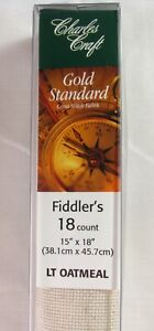 18 CT Lite Oatmeal Gold Standard Fiddlers Cloth Fabric by Charles Craft 15 x 18