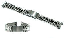 Cinturino per olorogio jubilee in acciaio pieno inox ansa curva 20mm deployante
