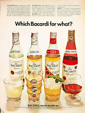 1971 Bacardi Rum - Anejo 151 flavors  Vintage Advertisement Print Ad J513