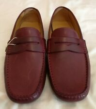 Armani Collezioni Leather Penny Loafers Slip-on Shoes Bordeaux uk 9 eu 43