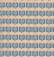 O127 1 cent Official Eagle full mint sheet of 100 MNH OG CV$25.00
