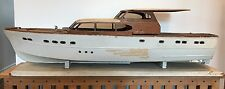 Vintage Large Sterling Model Boat - 63ft Chris Craft Motor Yacht Cira1950s 40ins