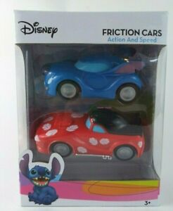 New in box Disney Lilo & Stitch Friction Cars Toys Two Cars with Action & Speed