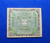 1944 1/2 Mark Germany Allied Military Currency/Paper Money WWII Occupation WW2💎