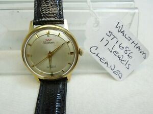 VINTAGE,WALTHAM,17J.MAN. WIND WATCH,MVMT.#,ST 1686,GOLD TONED CASE,CLASSIC,MCM