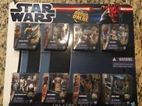 "Star Wars The Clone Wars Bonus Value 8 Pack 3.75"" Action Figures NIB   Hasbro"
