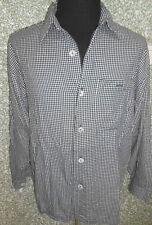 180 R132 SIGNUM Camisa Talla M NEGRO We ISS de cuadros Cuello KENT
