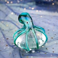 Handmade Colored Octopus Glass Ornament Figurine Handblown Home Decor Figurine