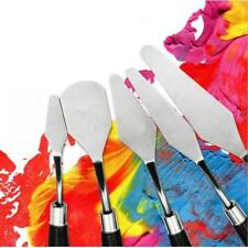 5 Pieces Assorted Set Stainless Steel Spatula Painting Oil and Acrylic