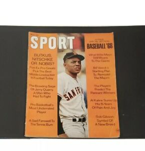 1968 Sport Magazine Willie Mays Baseball '68 Football Jerry Quarry Wrestler