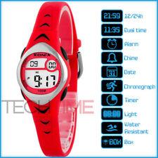 XONIX LE/4 Women's Girl's Sport Wristwatch 100m BOX Alarm Chronograph Timer