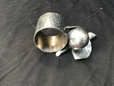 Antique Unknown Maker Figural Pear With Leaves Silver Plate Napkin Holder