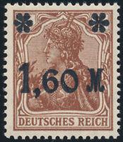 DR 1921, MiNr. 154 I b, tadellos postfrisch, gepr. Tworek, Mi. 230,-