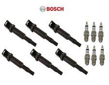 For BMW E46 E53 E60 E63 E64 E65 6 Platinum Spark Plugs & 6 Ignition Coils Bosch