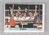 Sticker cycling Poland team Olympic games Montreal 1976 Panini Decje Novine Yug