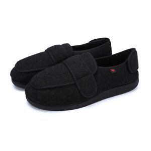 Mens Diabetic Shoes Arthritis Edema Swollen Feet Slippers Anti-Skid Rubber Sole