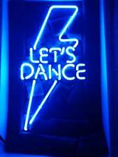"13"" Let's Dance Neon Sign Light Beer Bar Pub Lamp Display Glass Decor"