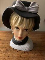 "Vintage NAPCOWARE Lady Head Vase C7497 Large 9""Tall  VERY RARE"
