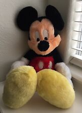 Disney Mickey Mouse Authentic Original Theme Park Long Pile Floppy NWT