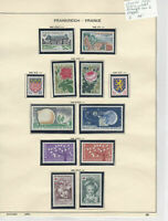 France 1962 MM+Used Stamps On 2 Pages  Ref: R6506