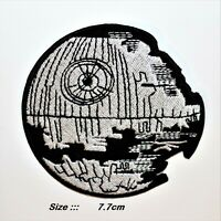 STAR WARS DEATH STAR PATCH EMBROIDERED IRON OR SEW ON APPLIQUE BADGE LOGO