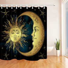 Moon and Sun Picture for Ethnic Waterproof Fabric Bathroom Shower Curtain 71Inch