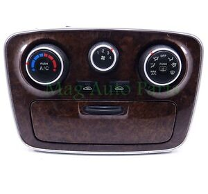 06-08 Hyundai Sonata Heater AC Temperature Climate Control Bezel OEM Woodgrain